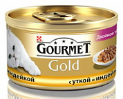 Gourmet Gold Duo Утка и индейка в подливке