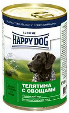Happy Dog Консервы для собак тел/овощи