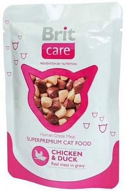 Brit Care Cat Chiken/Duck, пауч