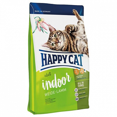 Happy Cat Adult Indoor Ягненок
